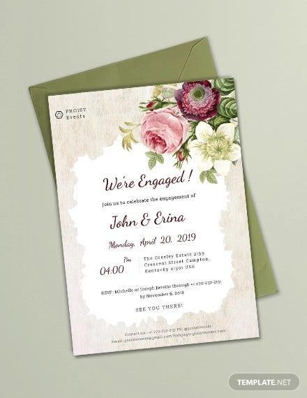 11+ Printable Engagement Invitation Templates - PSD, AI  Free  Within Engagement Invitation Card Template With Regard To Engagement Invitation Card Template