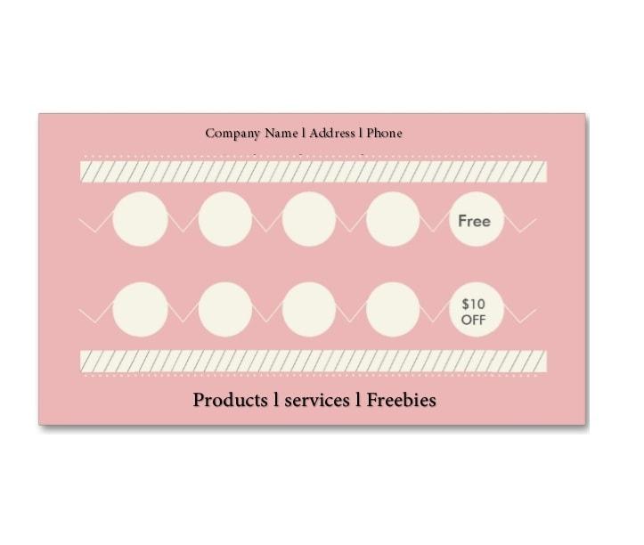 11 Printable Punch / Reward Card Templates [11% Free] Regarding Free Printable Punch Card Template Within Free Printable Punch Card Template