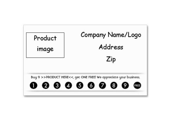 11 Printable Punch / Reward Card Templates [11% Free] Within Free Printable Punch Card Template With Free Printable Punch Card Template