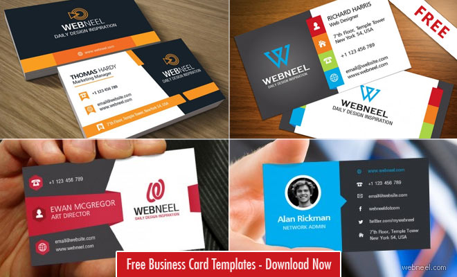 11 Professional Free Business Card Templates with source files  Throughout Free Bussiness Card Template Pertaining To Free Bussiness Card Template