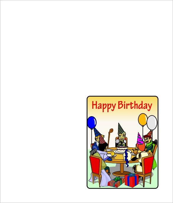 11+ Quarter Fold Card Templates - PSD, DOC  Free & Premium Templates For Quarter Fold Birthday Card Template With Quarter Fold Birthday Card Template
