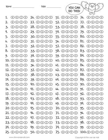 11 Question Answer Sheet Inside Blank Answer Sheet Template 1 100 Inside Blank Answer Sheet Template 1 100