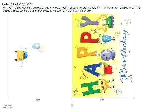 11 Report Birthday Card Template Quarter Fold Photo by Birthday  Within Quarter Fold Birthday Card Template