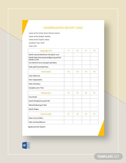 11+ Report Card Templates- Word, Docs, PDF, Pages  Free & Premium  Intended For Report Card Template Pdf For Report Card Template Pdf