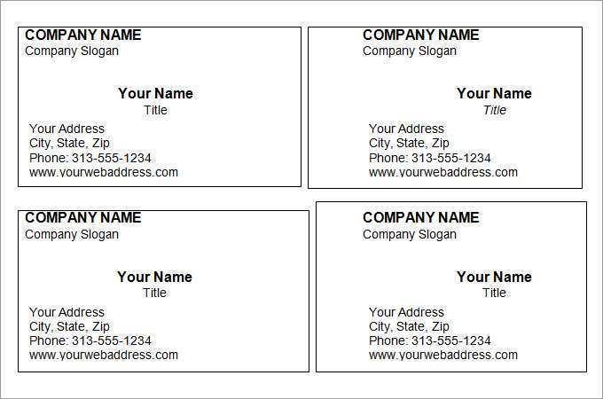 11 Report Download Free Blank Business Card Template Microsoft  Regarding Business Cards Templates Microsoft Word With Regard To Business Cards Templates Microsoft Word