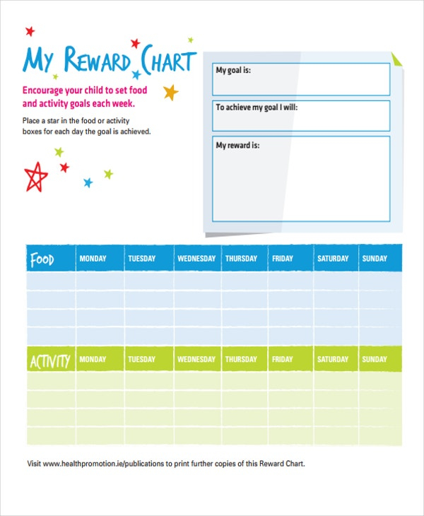 11+ Reward Chart Templates - Free Sample, Example Format Download  In Reward Chart Template Word Pertaining To Reward Chart Template Word