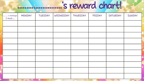 11+ Reward Chart Templates - Free Sample, Example Format Download  Regarding Reward Chart Template Word With Regard To Reward Chart Template Word