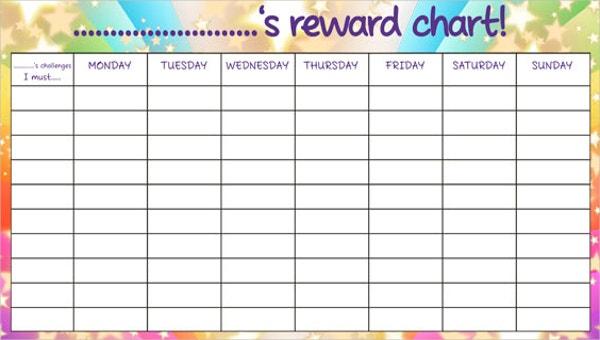 11+ Reward Chart Templates - Free Sample, Example Format Download  Throughout Blank Reward Chart Template Inside Blank Reward Chart Template
