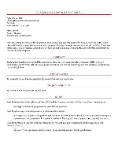 11 Sample Proposal Templates in Microsoft Word  Hloom Intended For New Position Proposal Template Intended For New Position Proposal Template