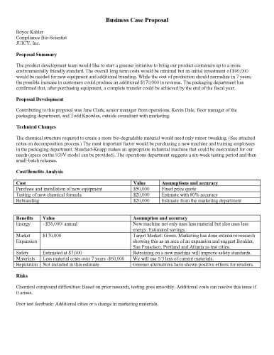 11 Sample Proposal Templates in Microsoft Word  Hloom With Regard To Idea Proposal Template Inside Idea Proposal Template