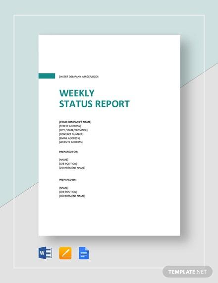 11+ Sample Weekly Report Templates - Word, PDF  Free & Premium  Regarding Good Report Templates Throughout Good Report Templates