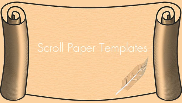 11+ Scroll Paper Templates & PSD Designs!  Free & Premium Templates Pertaining To Scroll Paper Template Word Throughout Scroll Paper Template Word
