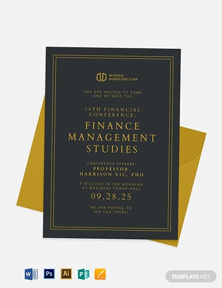 11+ Seminar Invitation Templates - Samples, Examples, Formats  Regarding Seminar Invitation Card Template Pertaining To Seminar Invitation Card Template