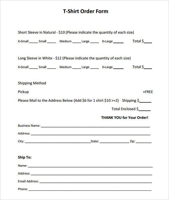 11+ T-Shirt Order Form Templates - PDF, DOC  Free & Premium Templates Throughout Blank Tshirt Template Pdf
