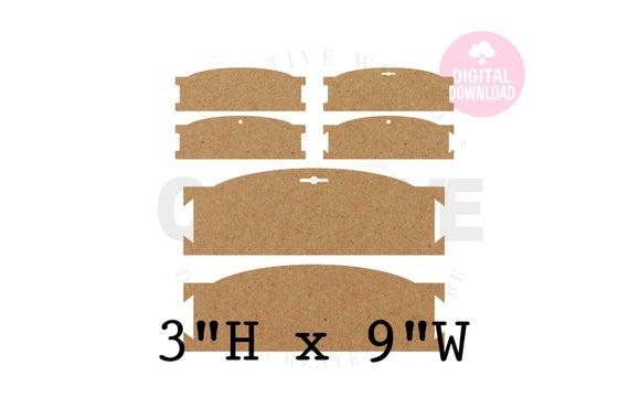 11 Templates ~ 11 X 11 Headband Display Template  Hair Bow Display Card SVG   Hair Bow Display Card  BDC11 Pertaining To Headband Card Template With Headband Card Template