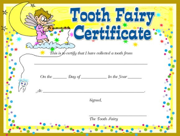 11 Tooth Fairy Certificates & Letter Templates - Printable Templates For Tooth Fairy Certificate Template Free Regarding Tooth Fairy Certificate Template Free