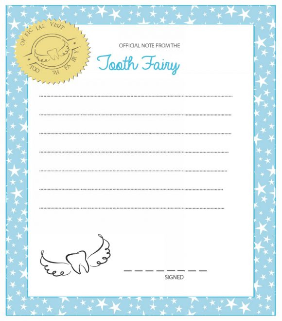 11 Tooth Fairy Certificates & Letter Templates - Printable Templates With Regard To Tooth Fairy Certificate Template Free In Tooth Fairy Certificate Template Free