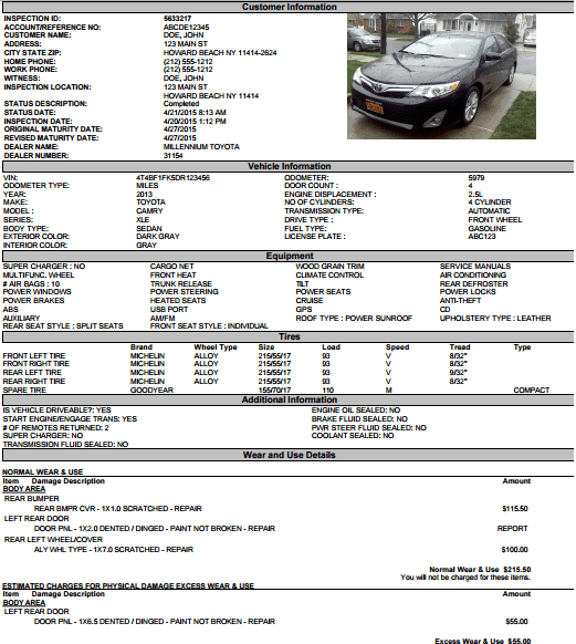 11+ Vehicle Condition Reports - Word Excel Templates Intended For Truck Condition Report Template Intended For Truck Condition Report Template