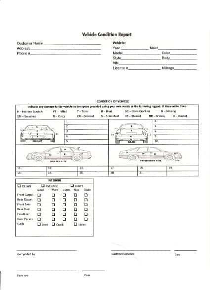 11+ Vehicle Condition Reports - Word Excel Templates With Regard To Truck Condition Report Template Regarding Truck Condition Report Template