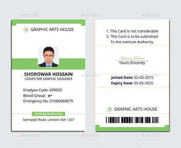 11 Visiting Hospital Id Card Template Free Download in Photoshop  With Hospital Id Card Template For Hospital Id Card Template