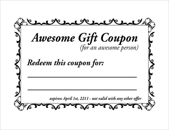 11+ Word Coupon Templates  Free & Premium Templates Pertaining To Coupon Book Template Word With Coupon Book Template Word