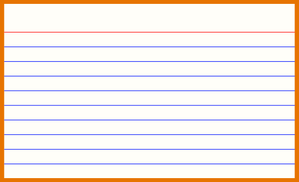 11 x 11 index card template free Inside 5 By 8 Index Card Template For 5 By 8 Index Card Template