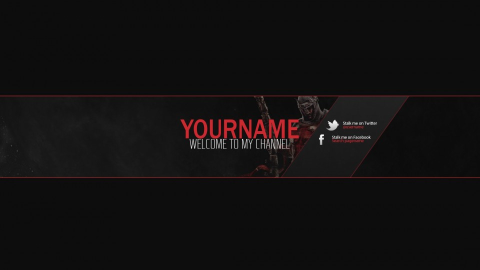 11 YouTube Template PSD Images - YouTube Channel Art Template 11  Throughout Gimp Youtube Banner Template With Gimp Youtube Banner Template