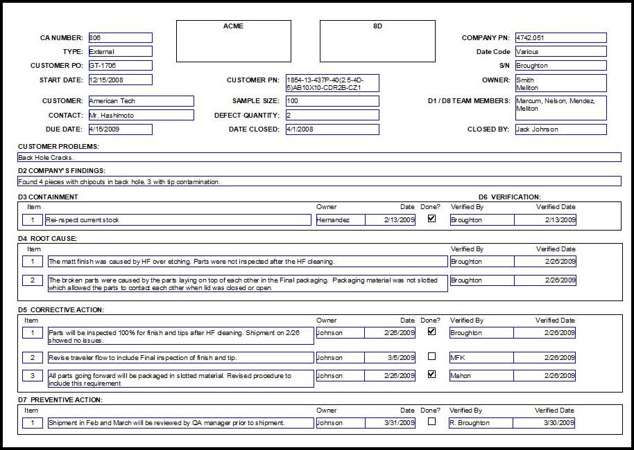 1111D Format Example (Page 11) - Line.111QQ Inside 8d Report Template Xls