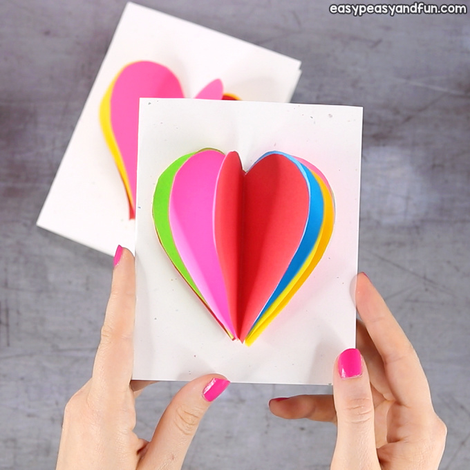 11D Heart Card - Easy Peasy and Fun Intended For Heart Pop Up Card Template Free With Heart Pop Up Card Template Free