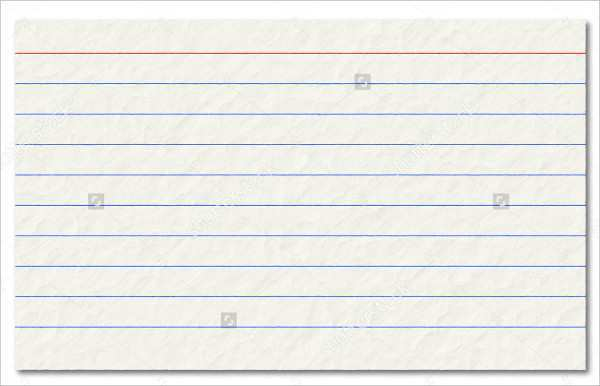 11X11 Ruled Index Card Template - Cards Design Templates Pertaining To 4x6 Note Card Template