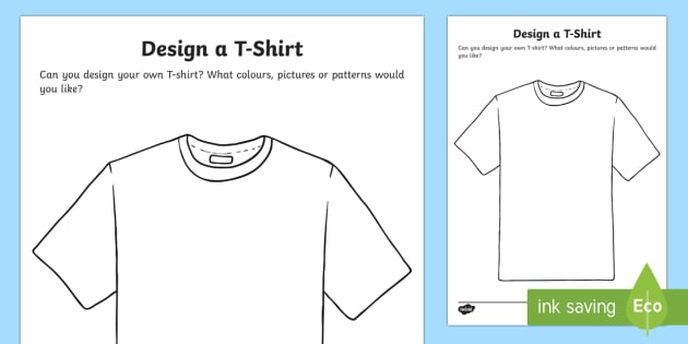 Activities for children T-shirts design template Intended For Blank Tshirt Template Printable With Blank Tshirt Template Printable
