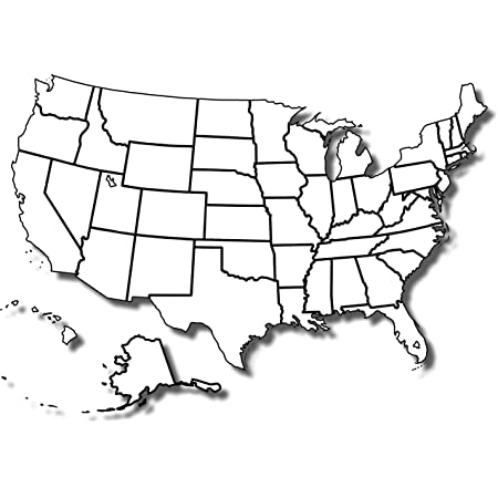Amazon Inside Blank Template Of The United States