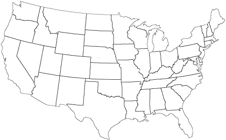 Amazon Throughout Blank Template Of The United States