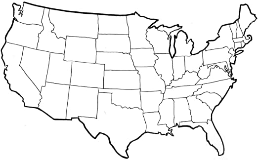 Amazon In Blank Template Of The United States