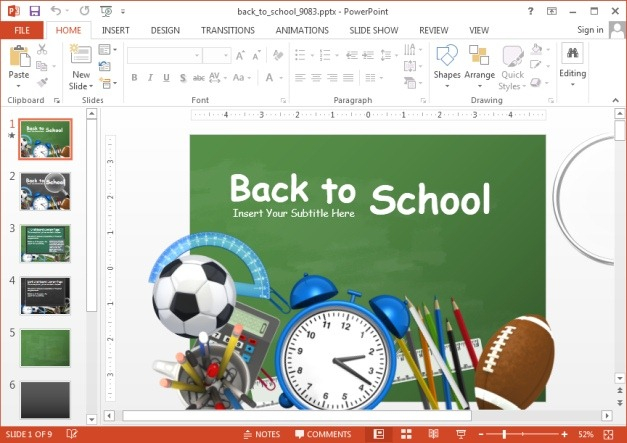 Animated Back To School PowerPoint Template Throughout Back To School Powerpoint Template With Regard To Back To School Powerpoint Template