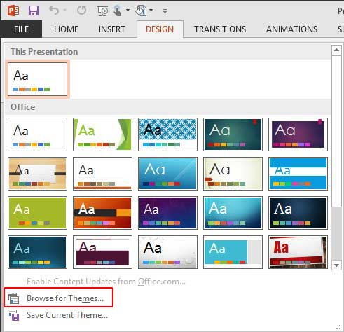 Applying Themes in Word, Excel, and PowerPoint 11 for Windows Pertaining To Powerpoint Replace Template With Powerpoint Replace Template