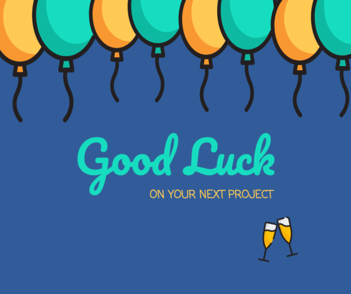 Artstudio – Good Luck blue banner image free template For Good Luck Banner Template Intended For Good Luck Banner Template
