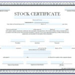 Australian Company Share Certificate Template  vincegray11 With Regard To Share Certificate Template Companies House