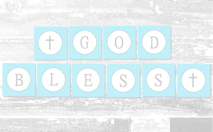 Baby Boy Baptism Banner  Free Printable  A Slice of Ky  For Christening Banner Template Free Regarding Christening Banner Template Free