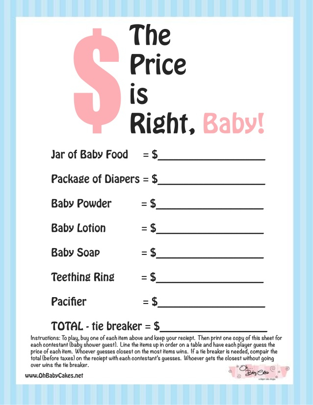Baby Shower Price Is Right Powerpoint - Baby Viewer Throughout Price Is Right Powerpoint Template.Html