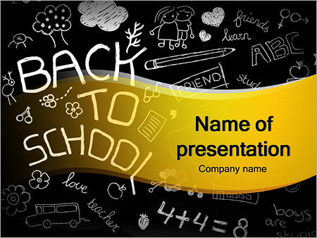 Back to School Doodles PowerPoint Template & Infographics Slides With Back To School Powerpoint Template Intended For Back To School Powerpoint Template