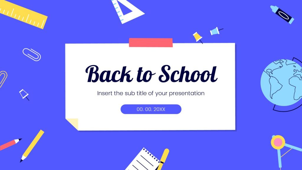 Back to school Free Presentation Template-PowerPoint and Google Slides In Back To School Powerpoint Template Throughout Back To School Powerpoint Template