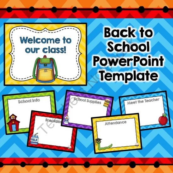 Back To School Night Powerpoint Template  The highest quality  For Back To School Powerpoint Template Intended For Back To School Powerpoint Template