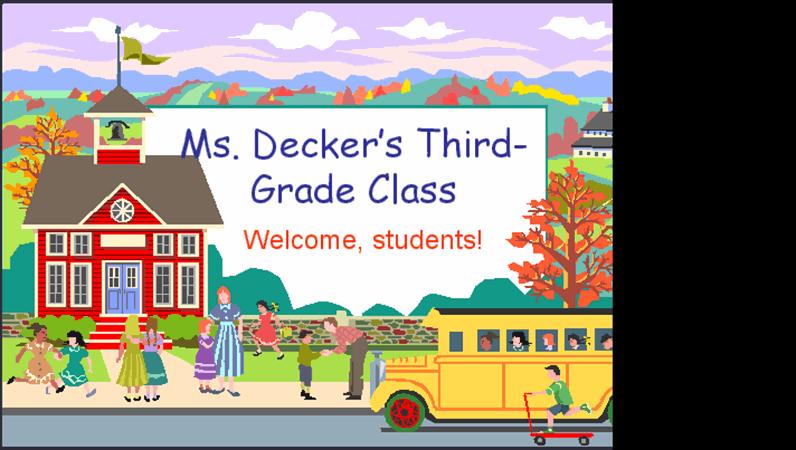 Back-to-school presentation Intended For Back To School Powerpoint Template With Back To School Powerpoint Template