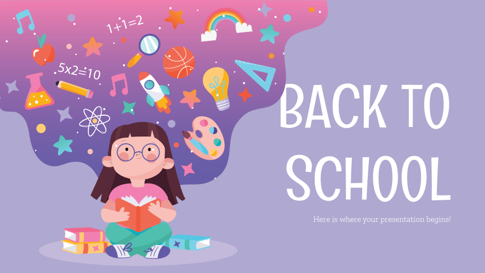 Back to School Social Media Google Slides and PowerPoint Template Regarding Back To School Powerpoint Template With Regard To Back To School Powerpoint Template