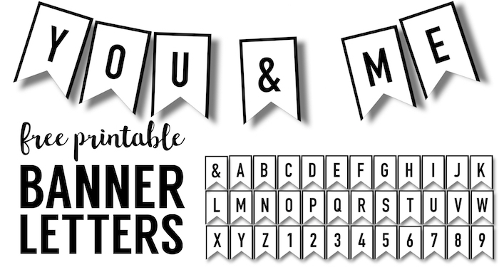 Banner Templates Free Printable ABC Letters  Paper Trail Design In Printable Letter Templates For Banners Regarding Printable Letter Templates For Banners