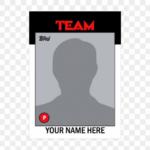 Baseball Trading Card Template 11 - Soccer Card Template  In Baseball Card Size Template
