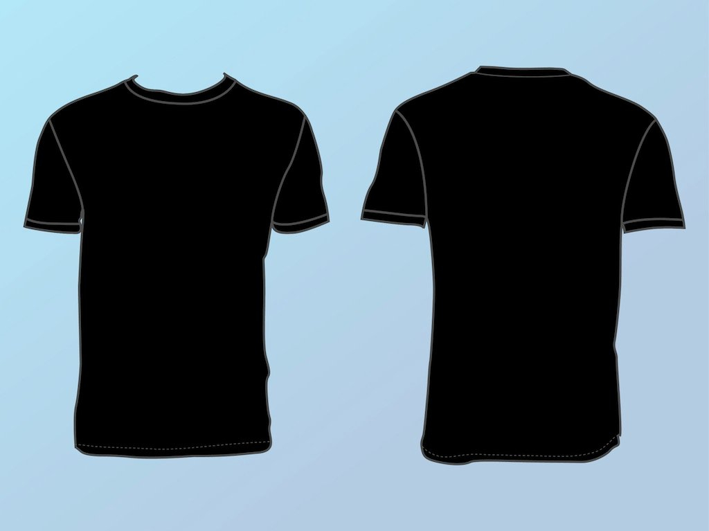 Basic T Shirt Template Vector Art & Graphics  freevector.com Within Blank T Shirt Outline Template