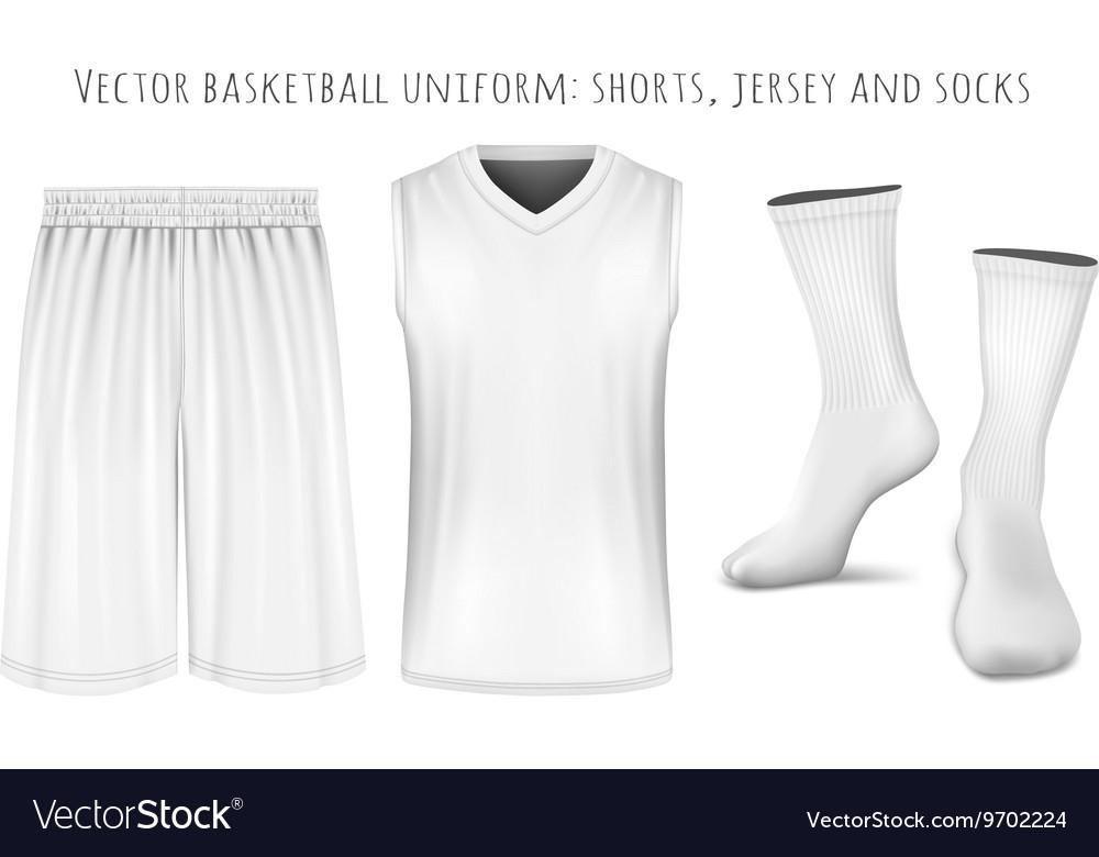 Basketball uniform templates Royalty Free Vector Image Throughout Blank Basketball Uniform Template Within Blank Basketball Uniform Template