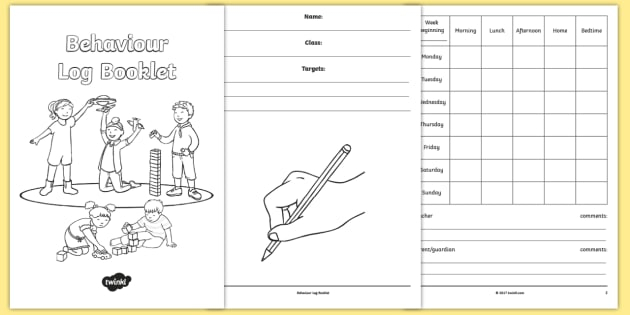 Behaviour Log Booklet Intended For Daily Behavior Report Template With Regard To Daily Behavior Report Template